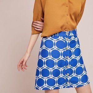 Anthropologie Maeve Blue Mod Kandinsky Skirt 14